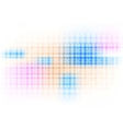 Colorful hi-tech background with circles vector image