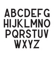 condensed typeface minimalistic black alphabet vector image