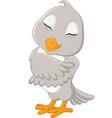 cute gray bird cartoon vector image