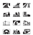 Different industrial construction vector image vector image