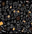 doodle seamless background school pattern with vector image vector image