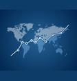 economic growth ascending graph vector image