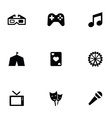 entertainment 9 icons set vector image vector image