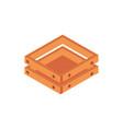 farm wooden box equipment isometric icon vector image vector image