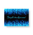 festive pamphlet with neon light vector image vector image