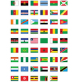 flag set of all african countries vector image