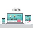 flat fitness adaptive design concept vector image vector image