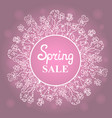 floral wreath concept design for a spring sale vector image vector image