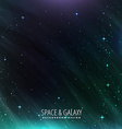 galaxy and space background vector image vector image