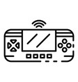 game control gadget icon outline style vector image vector image