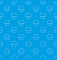 glaze cupcake pattern seamless blue vector image vector image