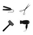 hair dryer hair straightener razor hairdresser vector image vector image