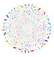 hand burst globula vector image vector image