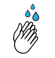 hand wash flat icon clean hands flat vector image vector image