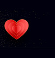 happy valentines day hearts background vector image