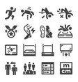 high jumping icon set vector image