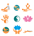 icons of massage vector image