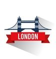 Isolated london bridge design vector image vector image