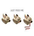 just feed me hand drawn vector image vector image