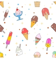 Kawaii ice-cream seamless pattern vector image vector image
