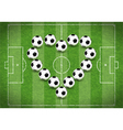 Love for Soccer vector image vector image