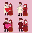 Muslim wedding couple cartoon vector image vector image