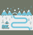 national mountain park camping scene vector image