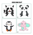 odd one out child game vector image