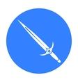 One-handed sword icon black Single weapon icon vector image vector image