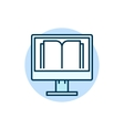 Online education flat icon vector image vector image