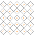 Orange gray rural geometric ornament pattern vector image vector image