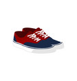 pair of red blue casual sneaker shoes fashion vector image vector image
