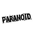 paranoid black stamp vector image