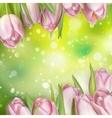Pastel Spring Tulips Border EPS 10 vector image vector image