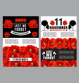 poppy day lest we forget poster remembrance day vector image vector image