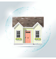 property insurance concept with small house vector image