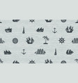 seamless background on the theme of sea travel vector image