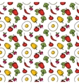 Seamless kitchen background of vegetables vector image vector image
