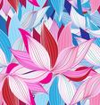 seamless pattern beautiful pink lotus vector image