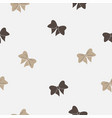 seamless pattern with bows on white background vector image vector image