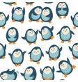 Seamless pattern with funny penguins vector image vector image