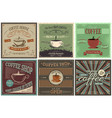 set of retro background with coffee design vector image vector image