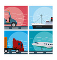 set of tranport vehicles vector image vector image