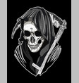 skull santa muerte vector image