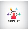 social net logo people connection logo vector image vector image