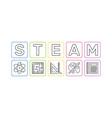 steam concept minimal outline banner or vector image
