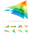 tech colorful signs set vector image vector image