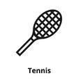 tennis line icon vector image