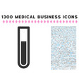 test tube icon with 1300 medical business icons vector image