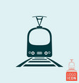 tram icon isolated vector image vector image